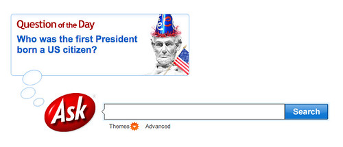 Ask.com on President's Day