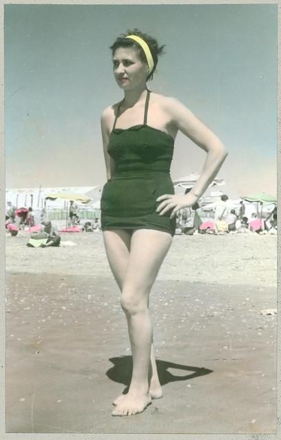 Pose on the beach