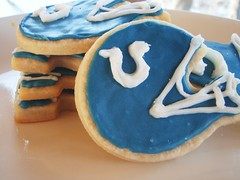football shaped cook's illustrated butter cookies (super bowl) - New Orleans Saints & Indianapolis Colts - 87