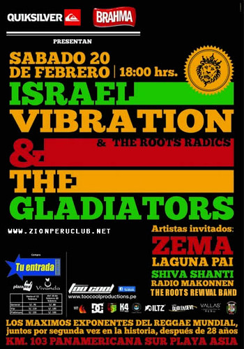 Israel Vibration y The Gladiators - Asia