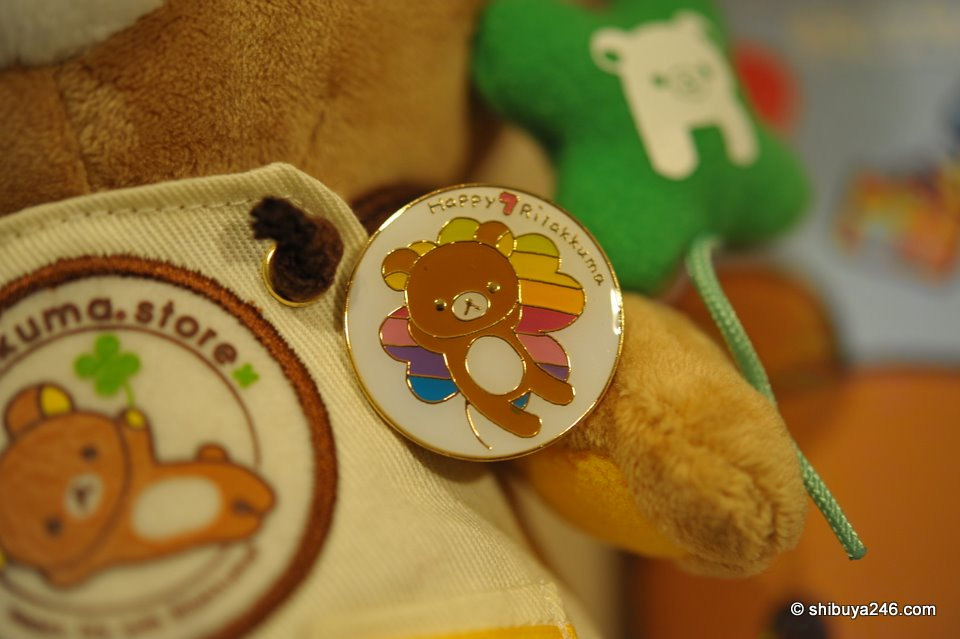This is the anniversary badge I got from the store for Rilakkuma's 7th anniversary. I was one day early to receive the Tokyo Store 1 year badge.