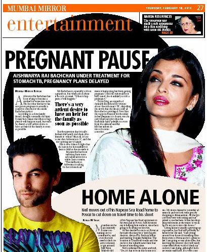 Article on Aishwarya Rai on Mumbai Mirror