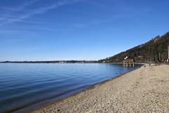 Bregenzer Uferstrand in der Februarsonne