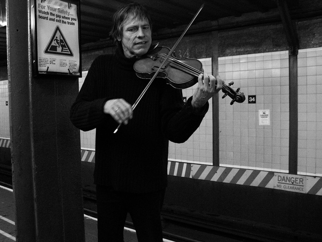 Violinist, below ground