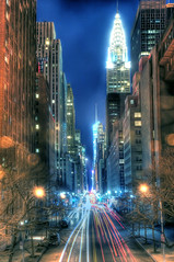 Manhattan Canyon (Tony Shi Photos) Tags: nyc newyork nova 42ndst nueva hdr   jork  tudorcity nowy  iorque      concretejungles  tonyshi manhattancanyon manhattanhengespot