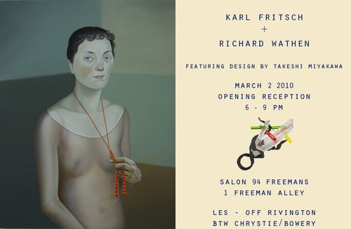 Karl Fritsch exhibits with painter Richard Wathen