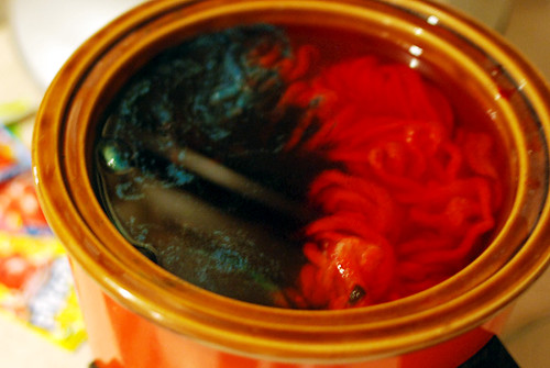 crock pot dyeing