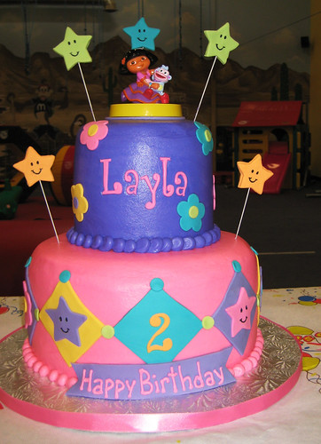 Layla's 2nd birthday cake Customer Photo