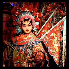 SICHUAN OPERA ,CHENGDU CHINA 2010 (electra-cute) Tags: china travel puppet chinesenewyear adventure shadowpuppet chengdu custom ethnic sichuan province 2010 sichuanopera facechanging