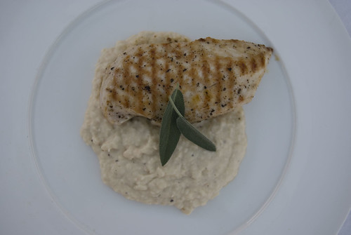 chicken and cannelini bean puree1