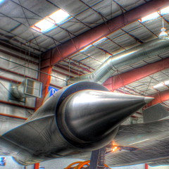 Lockheed SR 71 Blackbird engine (kevin dooley) Tags: world arizona museum plane canon airplane tucson space aircraft air jet engine az 71 f45 pima record 1998 24mm lockheed sr 32 blackbird fastest hdr sr71 breathing 1964 flew habu photomatix manned 40d