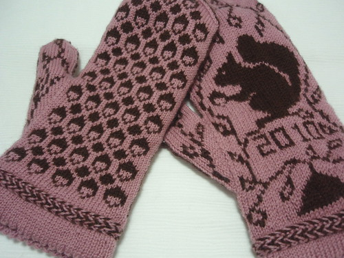 Squirrel Sampler Mittens