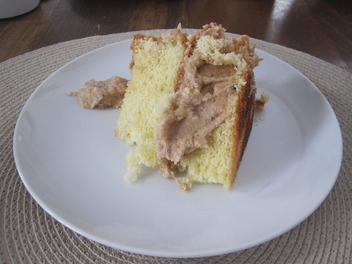 cake with chestnut icing