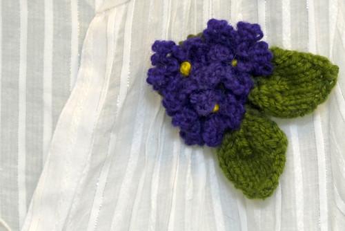 Violet Corsage for Amber