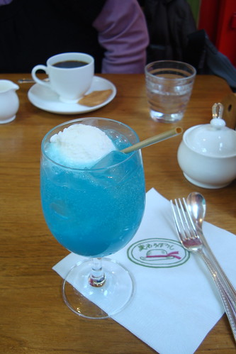 Cream soda at the Ghibli Museum cafe