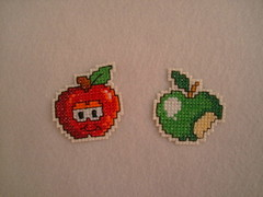 Apple... (F Eccel- Feltro no capricho) Tags: frutas ms bordado pontocruz frutinhas