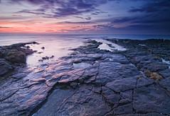 Kilspindie Sunset 3 (Graham Stirling) Tags: seascape beach reflections landscape nikon rocks long exposure stirling east graham lothian aberlady d300 tokina1116