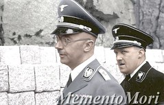 Heinrich Himmler and someone else (Arrabiata!) Tags: photomanipulation germany thirdreich nazi wwii 1940s colorized colorization nsdap heinrichhimmler