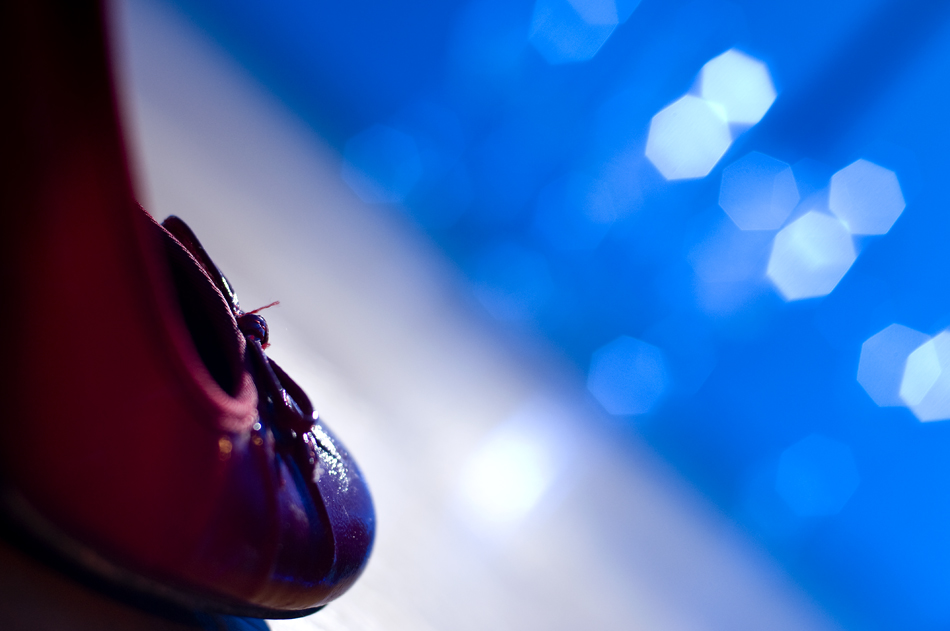 red shoe & bokeh
