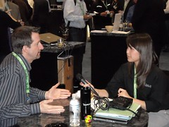 Scott Garell and Virginia Nussey at SMX West Ask.com Reception