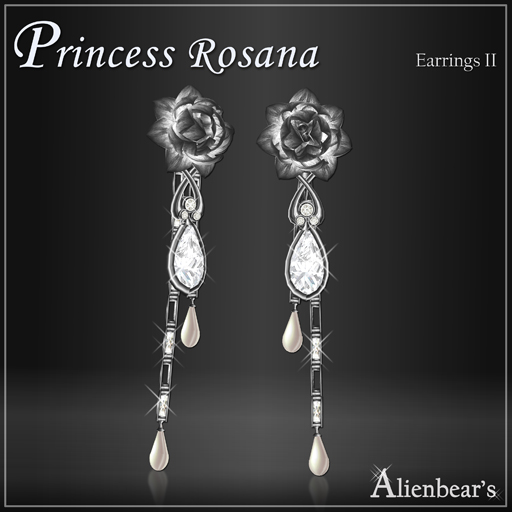 Dark Princess Rosana earrings II white