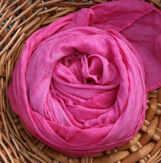 "I am...tickled pink- Hot pink 35x35"" playsilk"