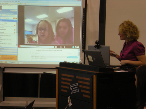 Students Attending Conference via Skype