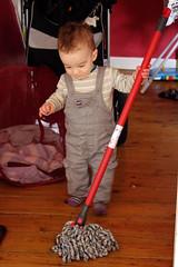 Swabbing the floors