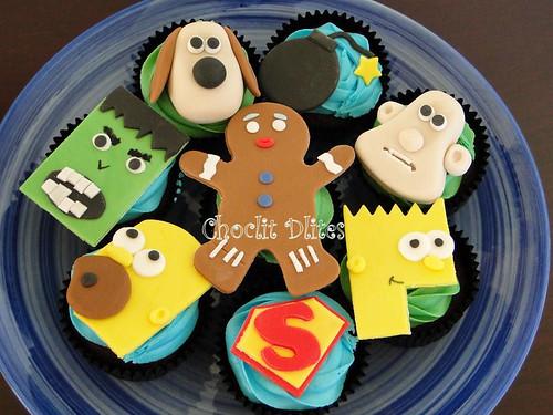 Cartoon Cupcakes