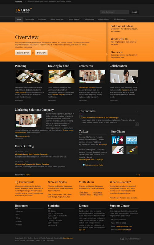 JA Ores   March 2010 Joomla Template