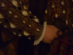 Holbein's Henry VIII detail with hand