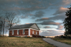 Grace Union Church (David Hopkins Photography) Tags: old trees sky clouds sunrise nc bricks northcarolina 1850s hdr catawbacounty nchdr davidhopkinsphotography graceunionchurch
