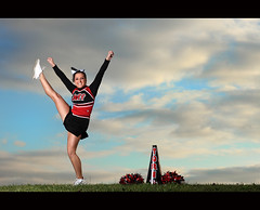 Tori Senior ~ V is for Victory (~Phamster~) Tags: canon cheerleader alienbee vagabond beautydish seniorphotography