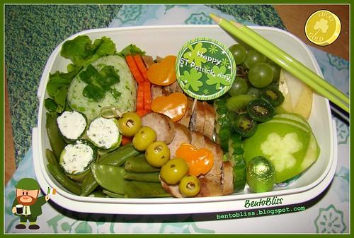 St Patrick's Day bento #1 - 17.03.2010