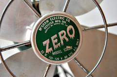 Vintage Teal Zero Fan