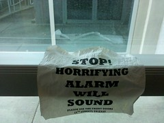 Stop! Horrifying alarm will sound