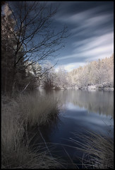 Mallards Pike, Forest of Dean (Ben Locke (Ben909)) Tags: longexposure lake forest ir gloucestershire infrared forestofdean mallardspike