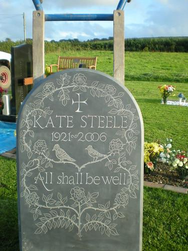 Larks & Roses Headstone
