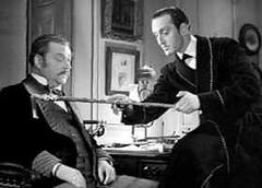 Holmes examines the cane