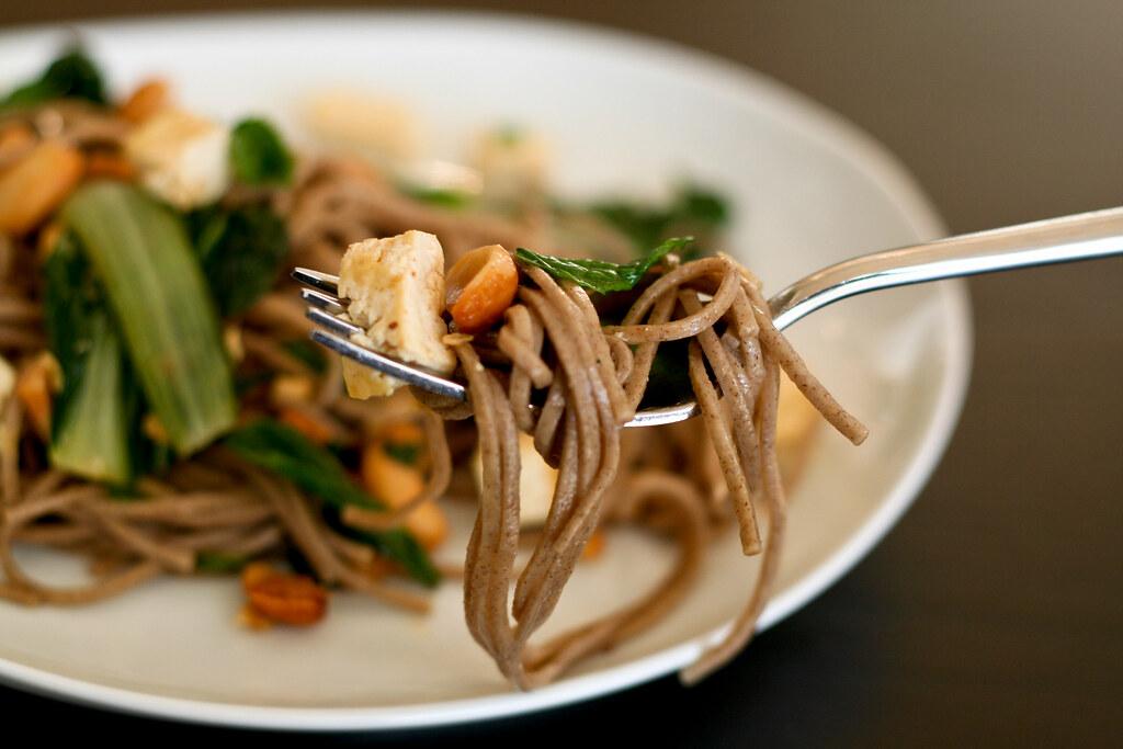 Garlic & Cashew Noodle Salad