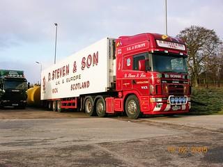 CNV00105 D Steven & Son SK04 BHJ  Scania