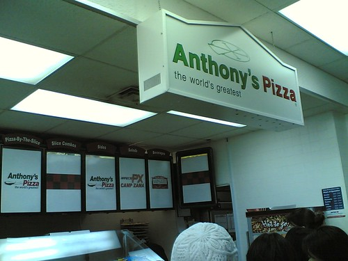 Anthony's Pizza shop at PX