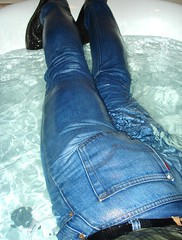 14 LS Lubed 501s only way to bathe (Leviswimmerwet) Tags: men wet swimming boots clothed guys jeans tshirts levis lube fully 501s lubed wetjeans wetwetlook wetladz wetladzin501s stf501s