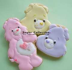 care bear cookies (JILL's Sugar Collection) Tags: food cookies decoration sugar icing carebear piping foodcolor royalicing sugarcraft