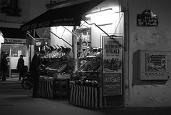 La Butte-aux-Cailles (cjm-ellipse) Tags: street bw paris france shop night nb boutique rue nuit paris13 75013 alimentationgnrale ruedelabutteauxcailles cjmellipse