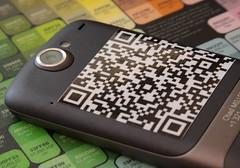 QR code on phone exterior