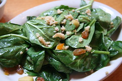 Phlight Restaurant, Whittier, CA - Warm Spinach Salad
