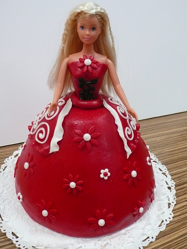 Medieval Maiden Barbie Cake