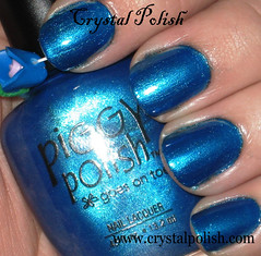 Piggy Polish Shake Your Blue-ty (CrystalPolish) Tags: blue shimmer piggypolish shakyyourbluety