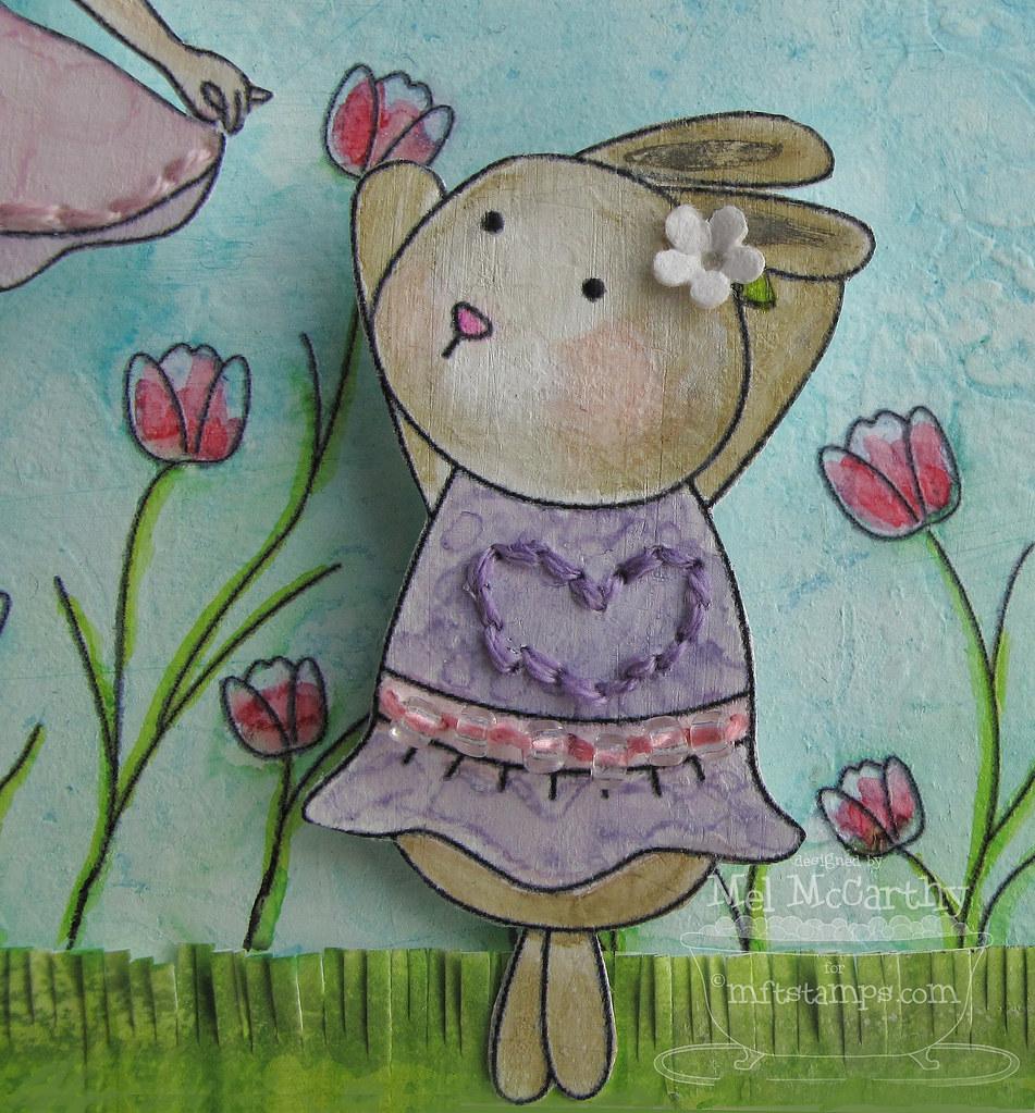 MFT Jolinne's Bunny Wabbit mel stampz